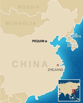 mapa acidente china (Foto: Editoria de Arte / G1)