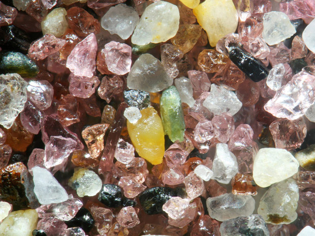 Grãos de areia revelam mundo de cores e formas (Foto: Gary Greenberg)