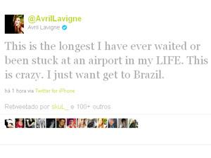 Twitter da cantora Avril Lavigne  (Foto: Reprodução)