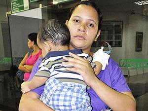 Criança é transferida do Pronto-Socorro de Cuiabá após decisão. (Foto: Deivison Almeida/G1 MT)