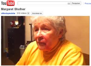 Margaret Shofner disse não ter percebido que era um flecha o que a atingira (Foto: Reprodução / YouTube)
