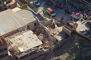 Obra de prédio de 4 andares desaba em BH; não há feridos (Amadeu Barbosa/ Agência Estado)