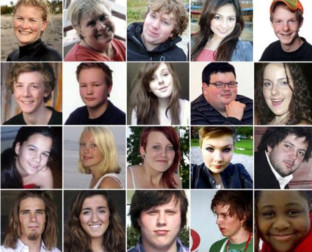 Montagem mostra algumas das vítimas do atirador (Foto: AFP)