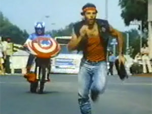 Cena de 'Captain America II: Death too soon', segundo dos dois longas para a TV produzidos pela CBS em 1979 (Foto: Reprodução)