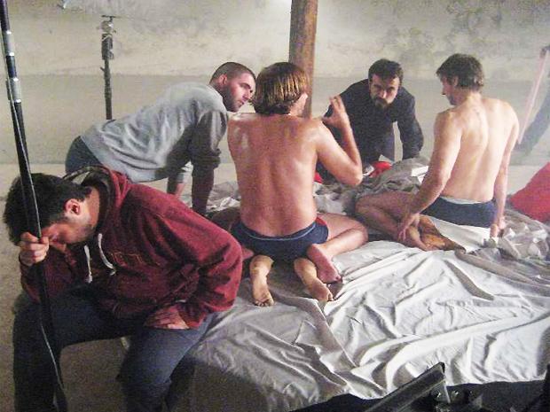 Bastidores de 'A Serbian film' (Foto: Divulgação/Contra Film)