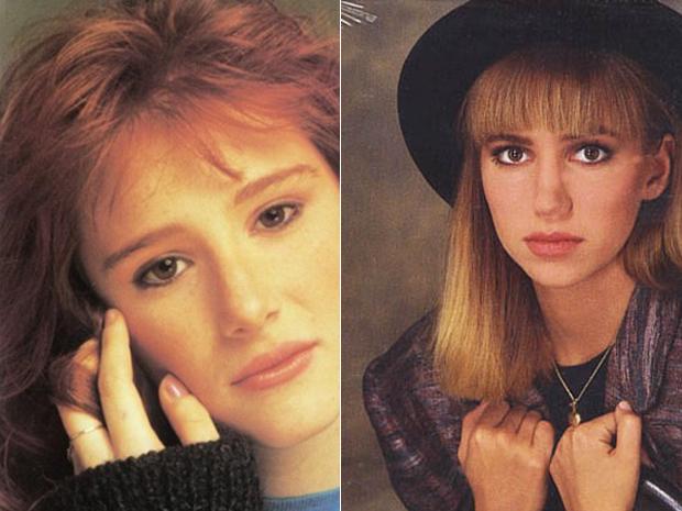 As cantoras Debbie Gibson e Tiffany em capas de discos lançados na década de 80 (Foto: Divulgação)