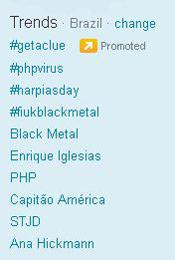 Trending Topics no Brasil às XXhXX (Foto: trending topics)