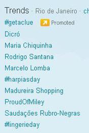 Trending Topics no Rio às 17h43 (Foto: Reprodução)
