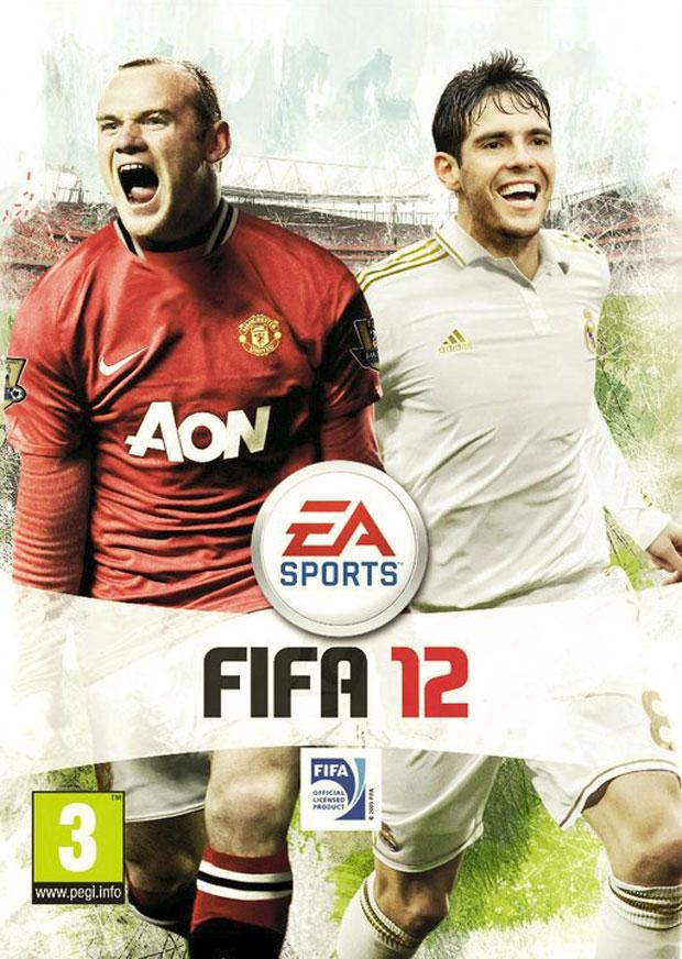 Rooney e Kaká estão novamente na capa do game 'Fifa 12' (Foto: Divulgação)