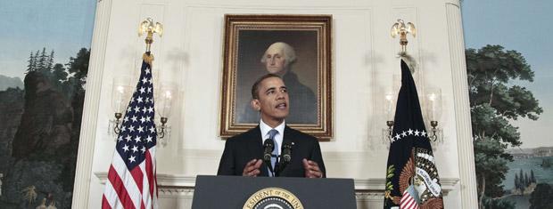 O presidente dos EUA, Barack Obama, fala sobre as negociações nesta sexta-feira (29) na Casa Branca (Foto: AP)