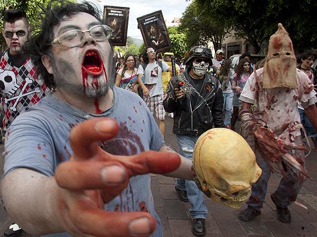 zumbis méxico (Foto: Demian Chavez Hernandez/Reuters)