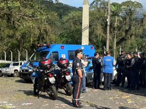 Policiamento está reforçado em Magé (Foto: Alba Valéria Mendonça/G1)