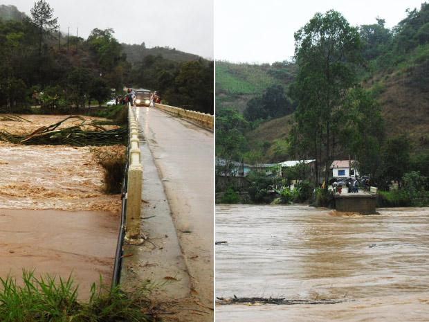 A primeira foto foi feita a partir do município de Doutor Ulysses e a segunda a partir de Cerro Azul, com poucos minutos de diferença. (Foto: Cristiano Afonso de Melo)
