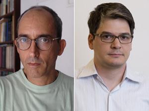 Rubens Figueiredo e Marcelo Ferroni, vencedores da edição 2011 do Prêmio São Paulo de Literatura (Foto: Divulgação)