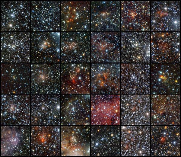 Imagens do telescópio Vista mostram aglomerados de estrelas que devem ajudar a entender formação da Via Láctea (Foto: J. Borissova/ESO)