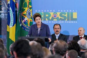 A presidente Dilma Rousseff discursa na solenidade de lançamento do Plano Brasil Maior (Foto: Roberto Stuckert / Presidência)