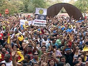 Professores da rede estadual de ensino decidem manter greve em reunião na ALMG  (Foto: Reprodução TV Globo)