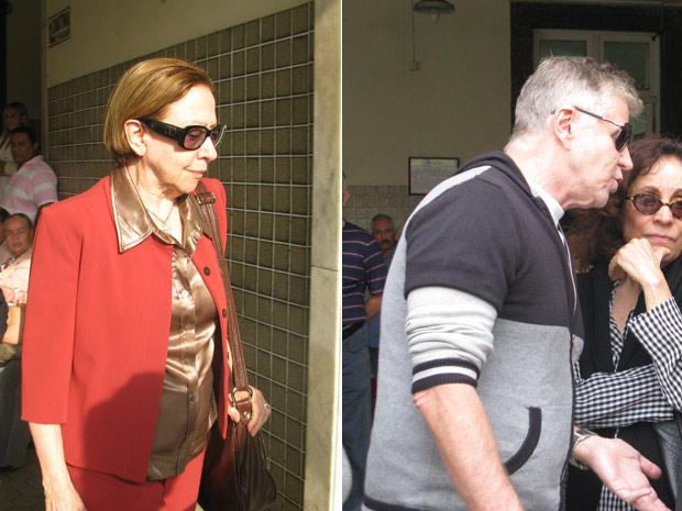 Fernanda Montenegro e Miguel Falabella no velório de Ítalo Rossi (Foto: Carla Meneghini/G1)