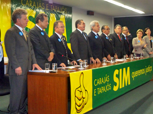 Frente para discussão sobre divisão do estado do Pará (Foto: G1)