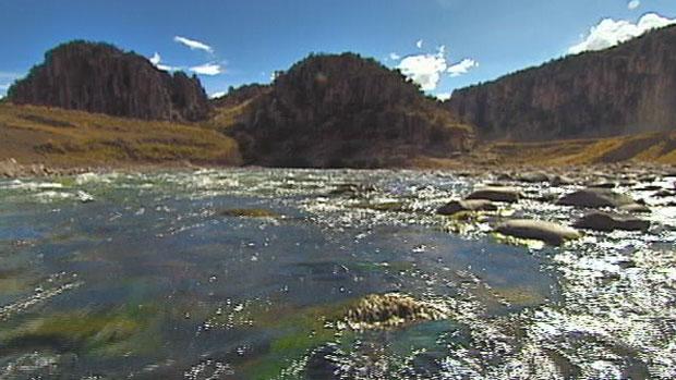 Caminho das águas mostra a nascente mais alta e distante do Rio Amazonas (Foto: rede globo)