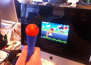 Game utiliza controle sensível a movimentos criado pelas crianças (Foto: Divulgação)