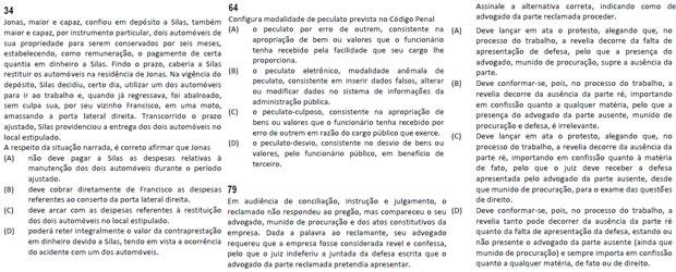 As questões 34, 64 e 79 do caderno de prova 1 e suas correspondentes nos demais cadernos foram anuladas (Foto: Reprodução)