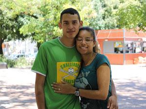 Alan e Alessandra. Volta de Portugal (Foto: Vitor Sorano/G1)