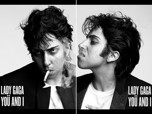 Lady Gaga como Jo Calderone nas capas do single 'You and I' (Foto: Divulgação)