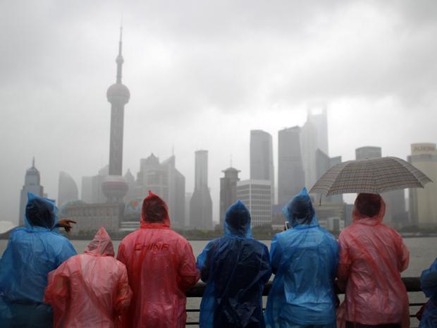 Tufão na China (Foto: AP)
