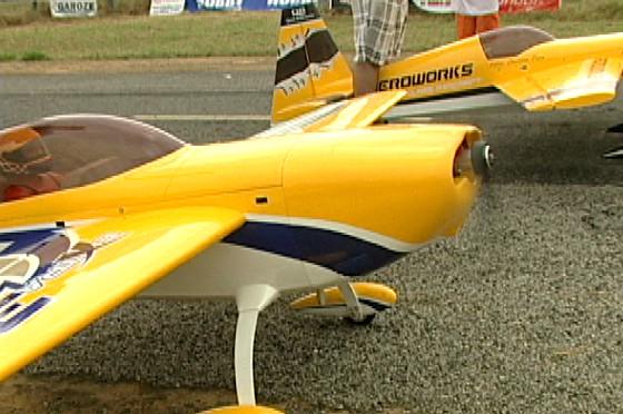 Festival de aeromodelismo acontece em Linhares (Foto: Reprodução/TV Gazeta Norte)