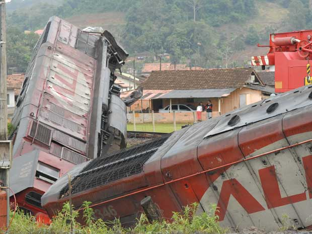 trem (Foto: Lúcio Sassi/A Notícia/Agência RBS)