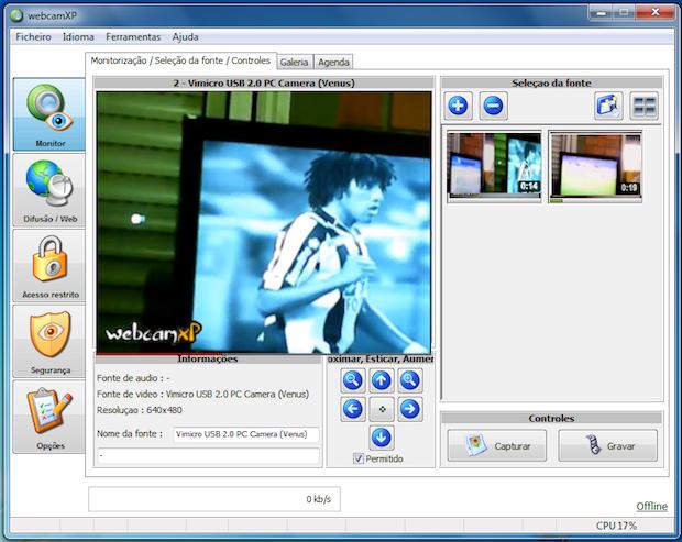 Processo de captura dos videos usando duas webcams  (Foto: Reprodução)