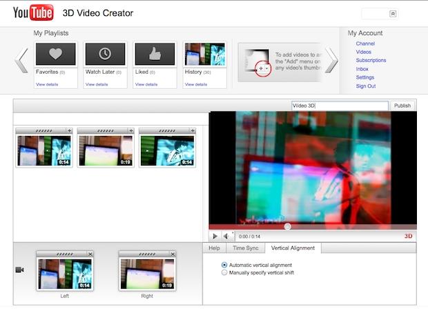 Usando o editor 3D no próprio site do Youtube  (Foto: Reprodução)