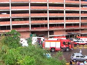 Acidente em canteiro de obras deixa nove mortos em Salvador (Foto: Reprodução/TV Bahia)