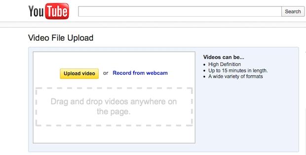 Após a gravação dos videos, basta fazer o envio ao site do Youtube (Foto: Reprodução)