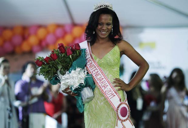 Raíra Paixão, 20 anos, foi eleita miss penitenciária DF nesta terça-feira (9). (Foto: Reuters)