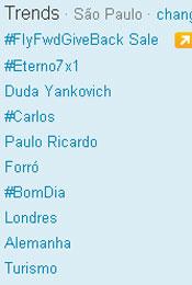 Trending Topics em SP às 12h51 (Foto: Reprodução)