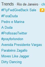 Trending Topics no Rio às 12h34 (Foto: Reprodução)