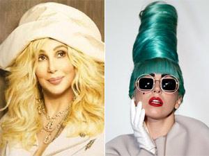 As cantoras Cher e Lady Gaga (Foto: Divulgação/Reuters)