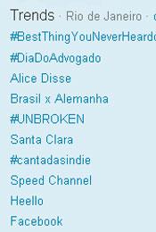 Trending Topics no Rio às 17h27 (Foto: Reprodução)
