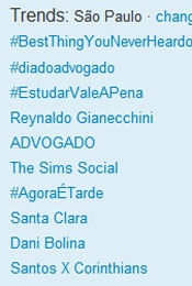 Trending Topics em SP às 17h40 (Foto: Reprodução)