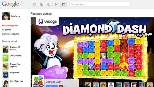 Google adicionou uma nova página de jogos à rede social (Foto: Divulgação)