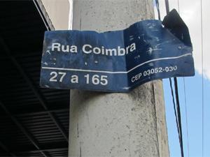 Rua Coimbra, um dos palcos de conflitos entre estrangeiros (Foto: Kleber Tomaz /G1)