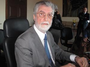 "O presidente do TJ, Manoel Alberto Rebêlo dos Santos: ""A juíza Patrícia era trabalhadora e vigorosa"" (Foto: Lilian Quaino/G1)"