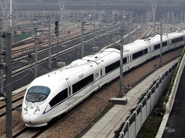 Trem de alta velocidade entre Pequim e Xangai é testado na China (Foto: Reuters)