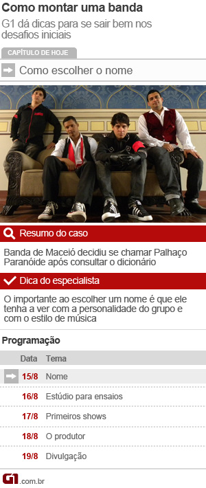 Infográfico da série 'Como montar sua banda' (Foto: Arte G1)