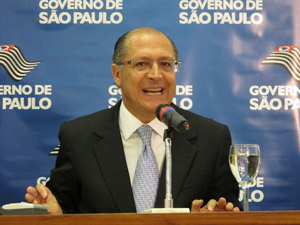 Alckmin durante apresentação do Plano Plurianual (Foto: Paulo Toledo Piza/G1)