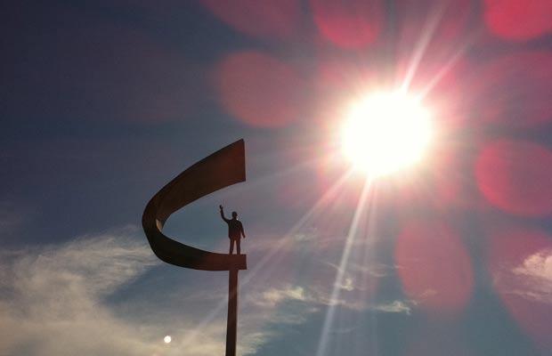 Memorial JK em Brasília, que registrou 10% de umidade relativa do ar na tarde desta segunda-feira (15) (Foto: Káthia  Mello/G1)