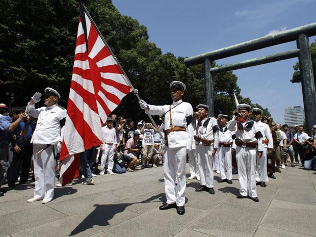 Japão faz homenagem a soldados mortos na segunda guerra (Foto: Issei Kato/Reuters)