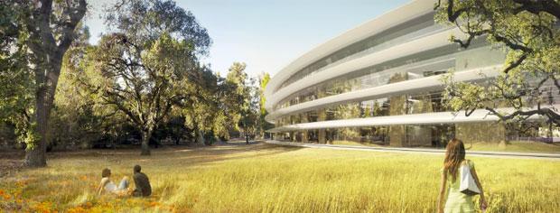 O site da cidade de Cupertino, nos Estados Unidos, publicou em seu site imagens do projeto da nova sede da Apple, que será construída na cidade (Foto: Divulgação/Cupertino.org)